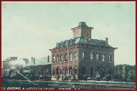 (Courtesy Madison County Historical Society) A local train heading to Sylvan Beach stops at the New York, Ontario & Western depot in Oneida (c. 1908-1914). The elegant depot, which opened its doors in August 18?3, stood near the corner of Sconondoa and Wilson streets and actively served Oneida until September 1939. In December of that year, the depot was demolished for scrap.